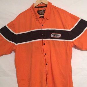 Vintage Harley Davidson men's biker shirts Large